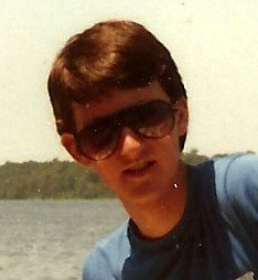 On my sailboat, 1984